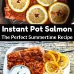 Summertime Instant Pot Salmon middle black banner