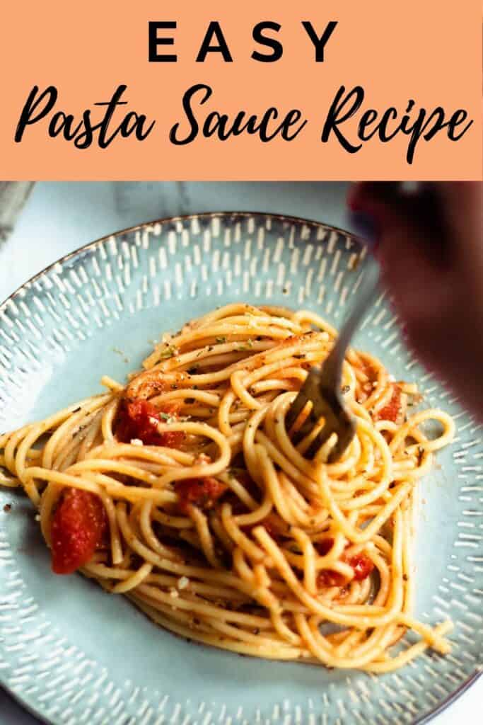 pinterest image for Easy pasta sauce recipe