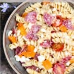 New Instant Pot Easy Pasta Salad Pinterest Image top clear banner