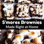 S'mores Brownies Pinterest Image middle black banner