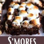 Delicious S'mores Brownies Pinterest Image bottom design banner