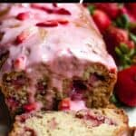 Easter Strawberry Bread Pinterest Image top black banner