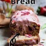 Easter Strawberry Bread Pinterest Image top outlined title