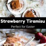 Easter Strawberry Tiramisu Pinterest Image middle black banner