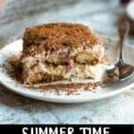 Summer Time Strawberry Tiramisu Pinterest Image bottom black banner