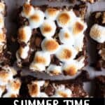 S'mores Brownies Pinterest Image bottom black banner