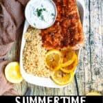 Summertime Instant Pot Salmon bottom black banner