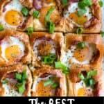 Egg in a Hole Bake Pinterest Image bottom black banner