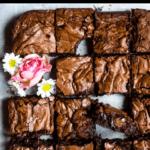 Valentine's Day Fudgy Brownies Pinterest Image Top Black Banner