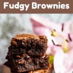 Back To School Fudgy Brownies top brown banner
