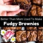 Fudgy Brownies Pinterest Image middle black banner