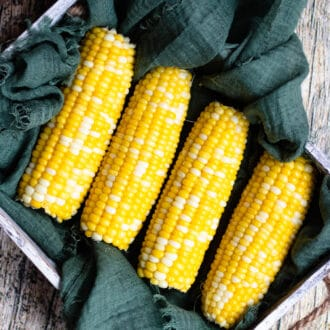 Corn on the Cob in a basket