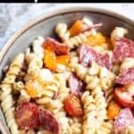 Instant Pot Easy Pasta Salad Pinterest Image top black banner