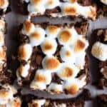 Smores Brownies close up