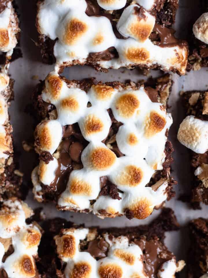 Smores Brownies close up