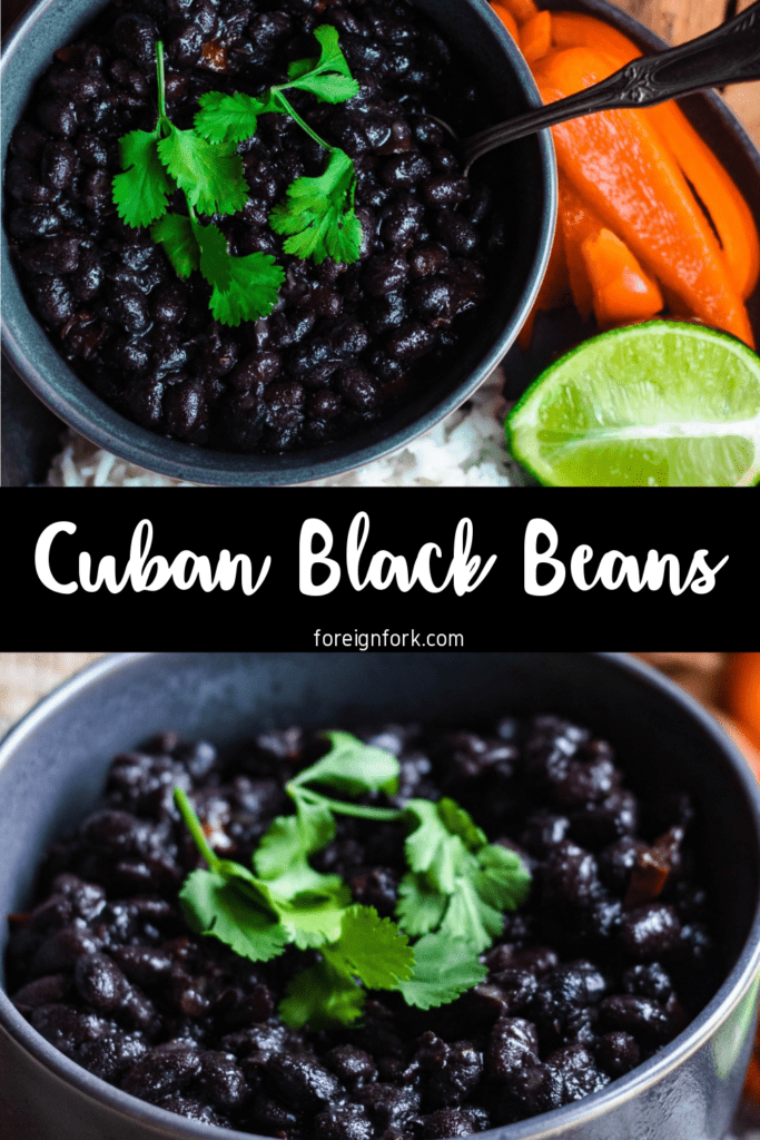 Pinterest image for Cuban black beans