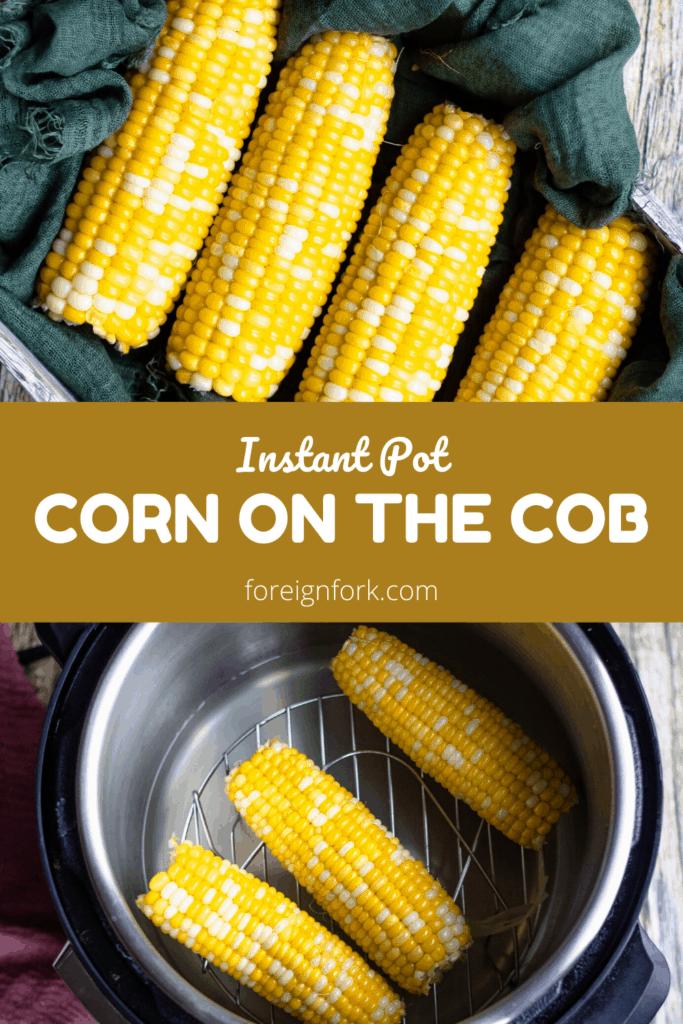 Instant Pot Corn on the Cob Pinterest Image