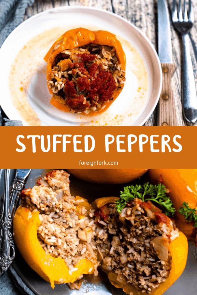 Stuffed Peppers Pinterest Image