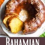 Bahamian Rum Cake Pinterest Image bottom design banner