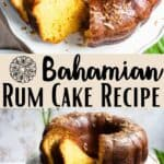 Bahamian Rum Cake Pinterest Image middle design banner