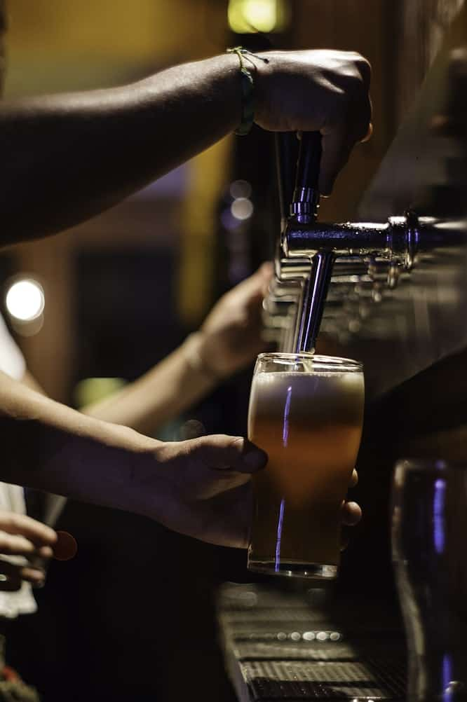 Czech food: Beer from a tap to represent the beer culture