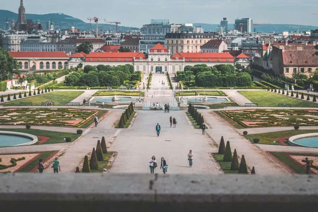 Belvedere palace in Austria