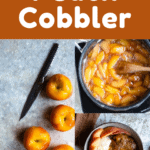 peach cobbler pinterest image