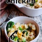 Instant Pot Cheesy Chicken Pinterest Image top outlined title