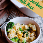 Instant Pot Cheesy Chicken and Rice Pinterest Image