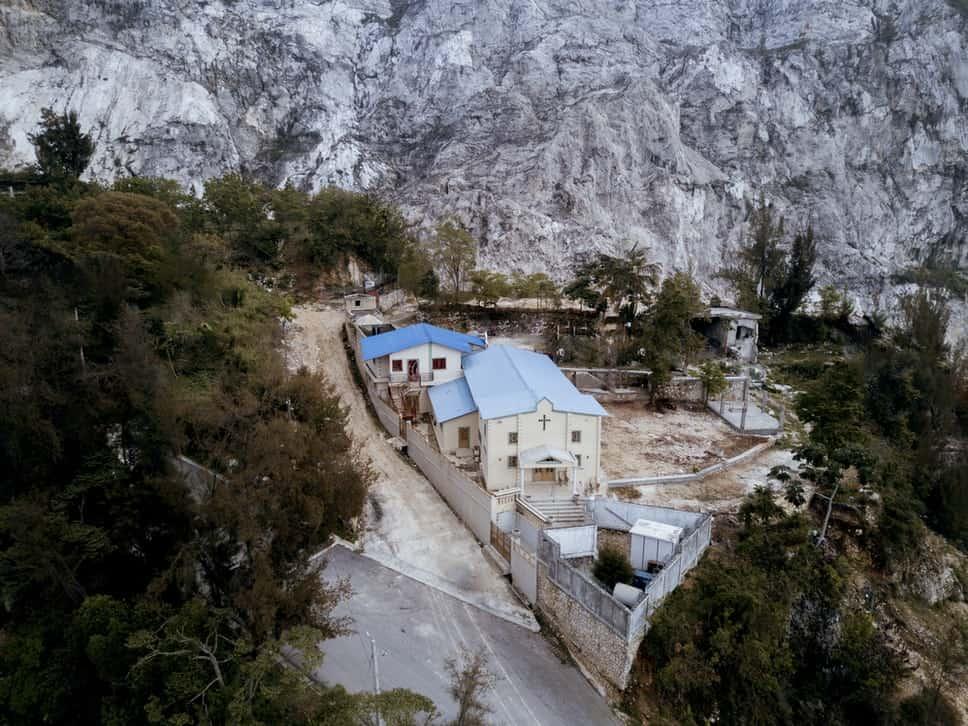 Church on a hillside in Haiti.