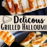 Grilled Halloumi Pinterest Image middle design banner