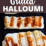 Grilled Halloumi Pinterest Image top design banner