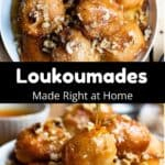 Homemade Loukoumades Pinterest Image middle black banner