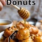 Easter Honey Donuts Pinterest Image top outlined banner