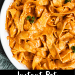 Instant Pot Vodka Sauce Recipe Pinterest Image Bottom black Banner