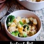 Instant Pot Cheesy Chicken Pinterest Image bottom black banner