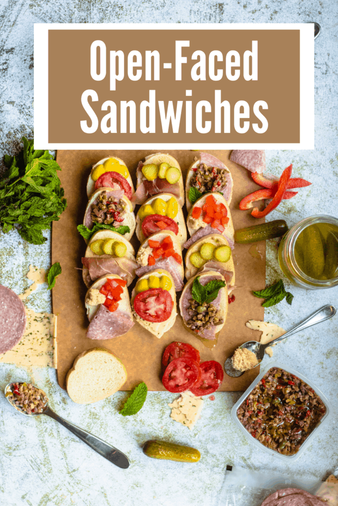 Open-Faced Sandwiches Pinterest Image