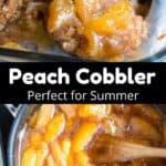 peach cobbler perfect for summer