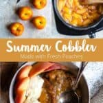 cobbler made with fresh peaches pinterest
