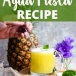New Pineapple Agua Fresca Pinterest Image top design banner