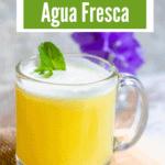 Pineapple Coconut Agua Fresca Pinterest Image