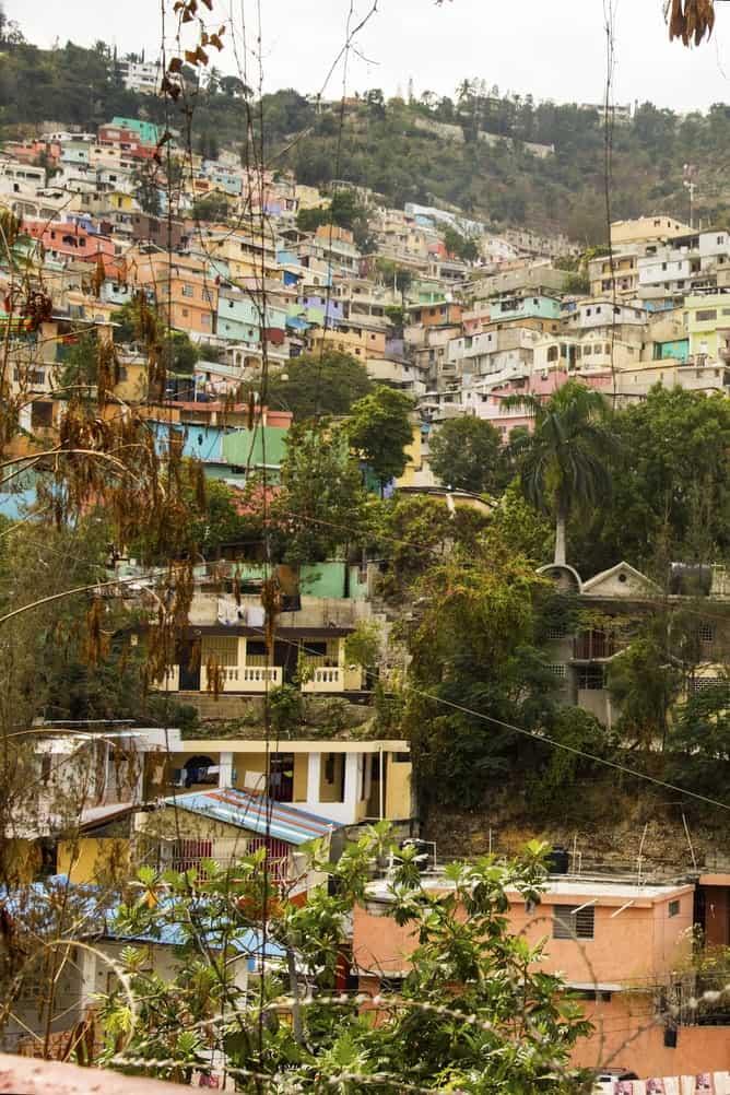 Hillside village in Haiti