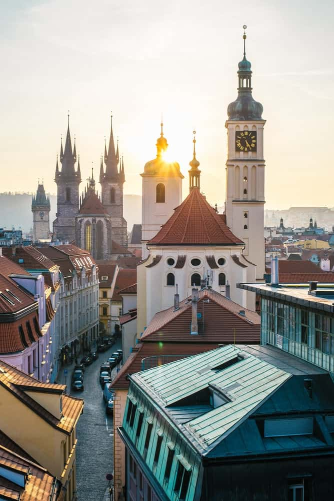 Beautiful prague from the rooftops