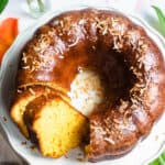 Rum Cake Recipe from overheat with toasted coconut