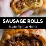 Sausage Rolls Pinterest Image middle black banner