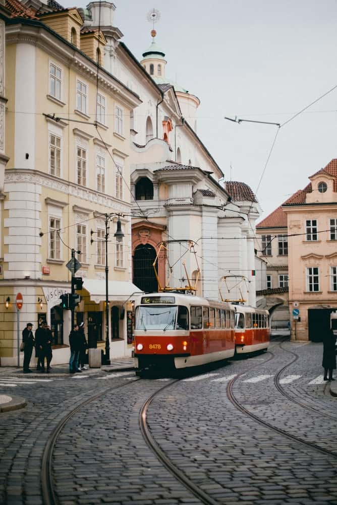 Street car in Czech Republic