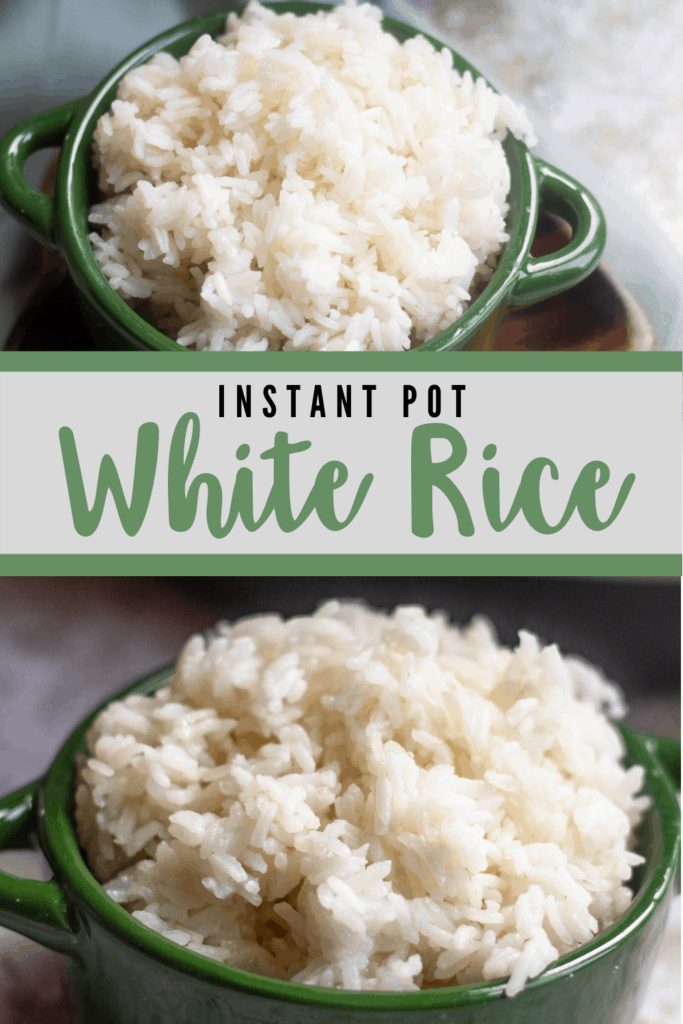 White Rice in the Instant Pot Pinterest Graphic