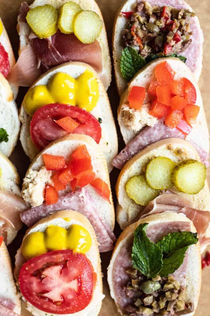 Czech Food: Chlebíčky close up