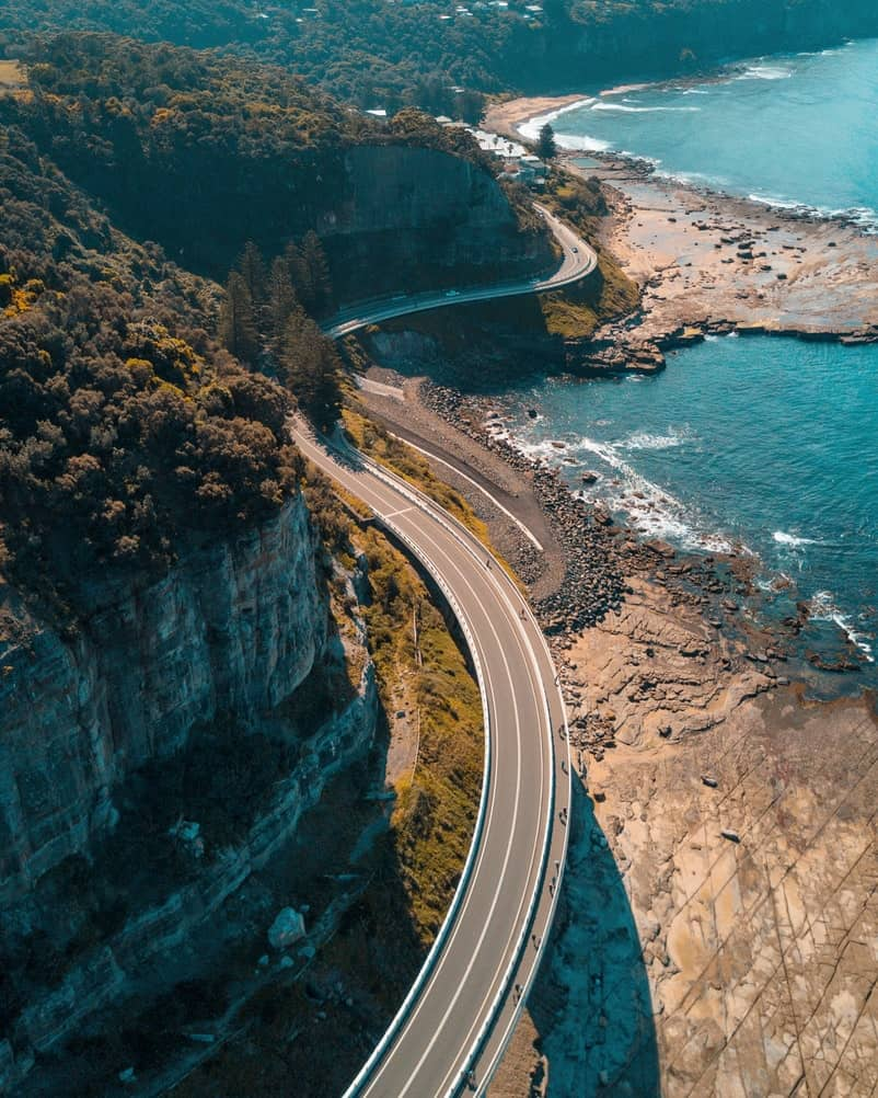 Beautiful winding road in Australia