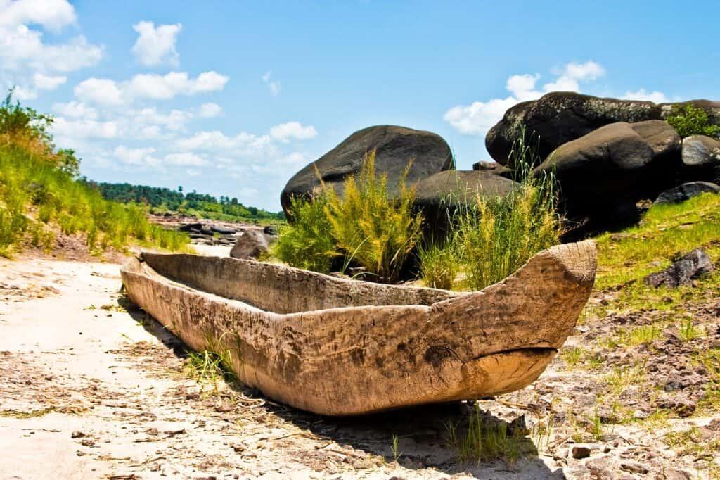 Boat in the Democratic Republic of the Congo